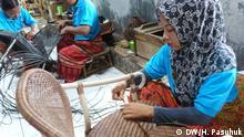 Indonesien Cirebon Rattan-Fabrik