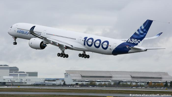 Maiden flight of Airbus A350-1000 in Toulouse, France (picture-alliance/dpa/M. Lystseva)