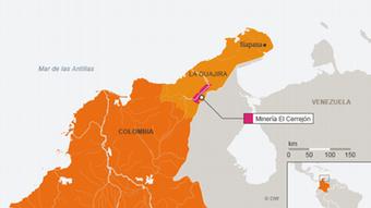 Infografik Karte Kolumbien La Guajira Siapana SPA