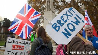 Großbritannien Brexit-Proteste