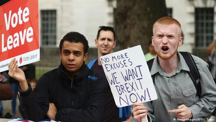 Großbritannien Brexit-Proteste (Getty Images/AFP/J. Tallis)