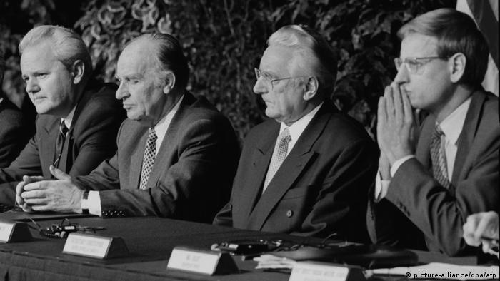 Dejton 1995: Milošević, Izetbegović, Tuđman i evropski pregovarač Karl Bilt