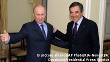 Frankreich Russland Vladimir Putin und Francois Fillon