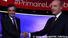 Frankreich Präsidentschaftskandidaten Fillon und Juppé