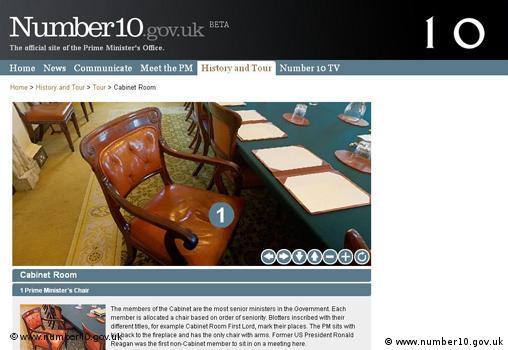 Website des britischen Premierministers Gordon Brown