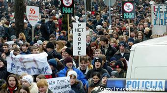 Акция протеста против школьной реформы в Латвии (фото из архива)
