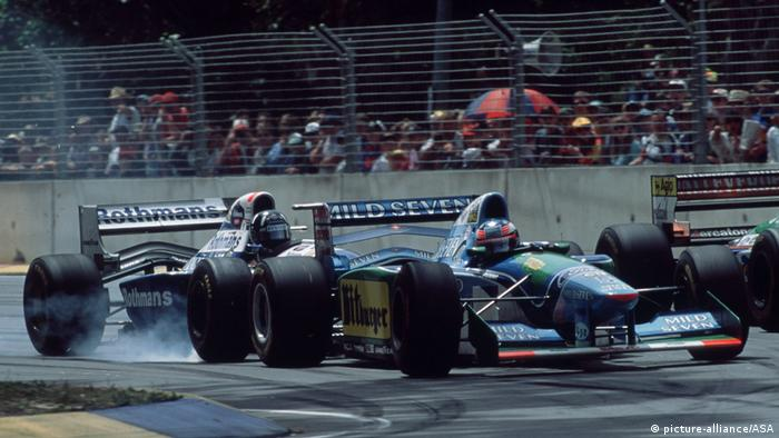 Australien Formel 1 1994 Michael Schumacher Damon Hill (picture-alliance/ASA)