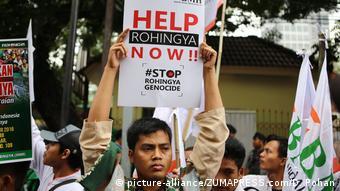 Indonesien Jakarta Protest vor Botschaft von Myanmar