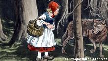 Märchen Rotkäppchen und der böse Wolf