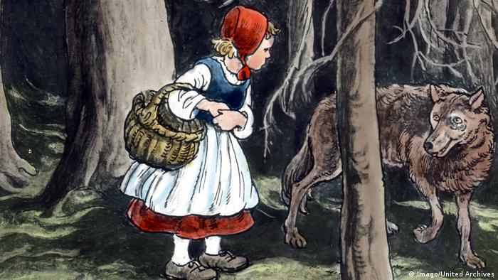 Szene aus dem Märchen Rotkäppchen und der böse Wolf (Imago/United Archives)