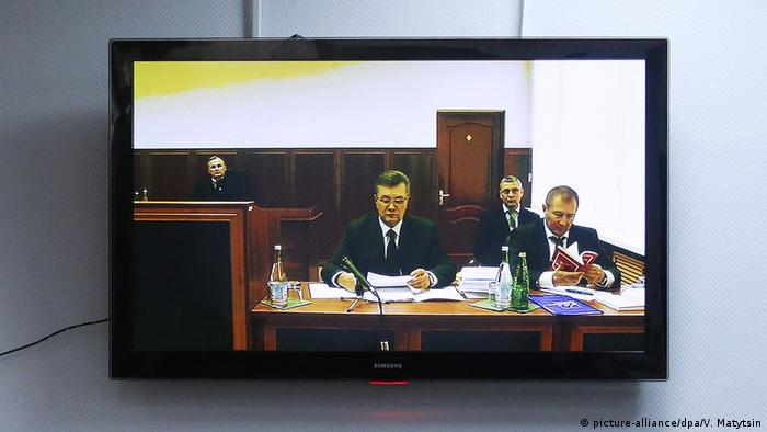 Допрос Виктора Януковича по видеосвязи