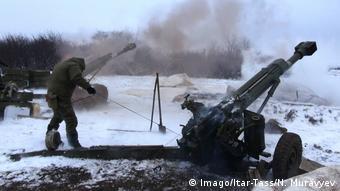 Во время боев за Дебальцево, февраль 2015 года