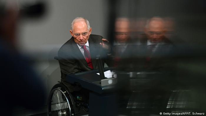 Wolfgang Schäuble im Bundestag