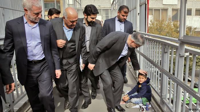 Straßenkind und der Minister (IRNA)
