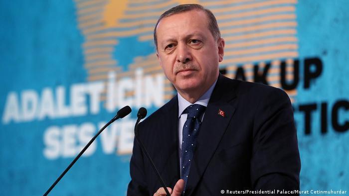 Türkei Präsident Tayyip Erdogan Rede in Istanbul (Reuters/Presidential Palace/Murat Cetinmuhurdar)