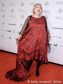 Claudia Roth in a daring red dress (Getty Images/C. Billan)