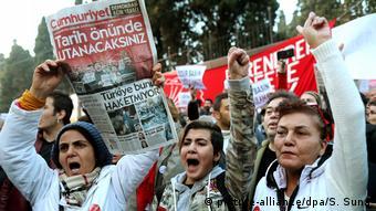 Istanbul Protest Cumhuriyet Verhaftungen (picture-alliance/dpa/S. Suna)