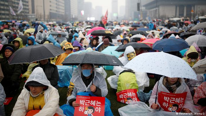 Proteste in Südkorea (Reuters/K. Hong-Ji)