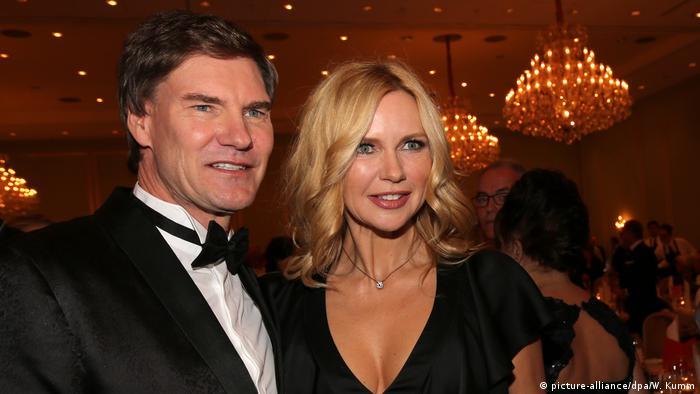 Carsten Maschmeyer and Veronica Ferres in a ballroom