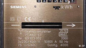Deutschland Energie Strom Preis Zähler