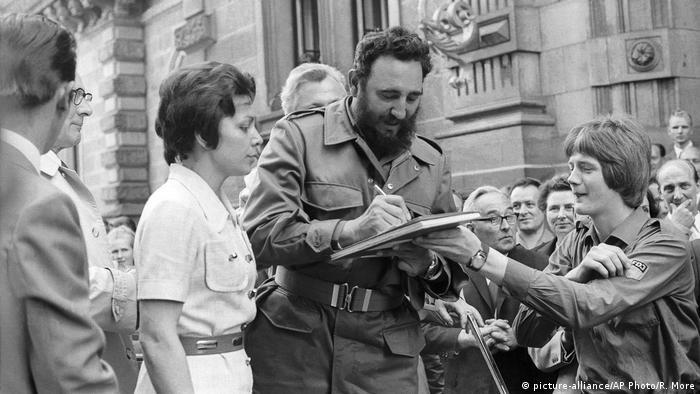 Фидель Кастро в восточном Берлине