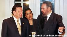 Fidel Castro mit Gerhard Schröder