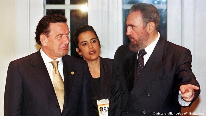 Фидель Кастро и Герхард Шрёдер