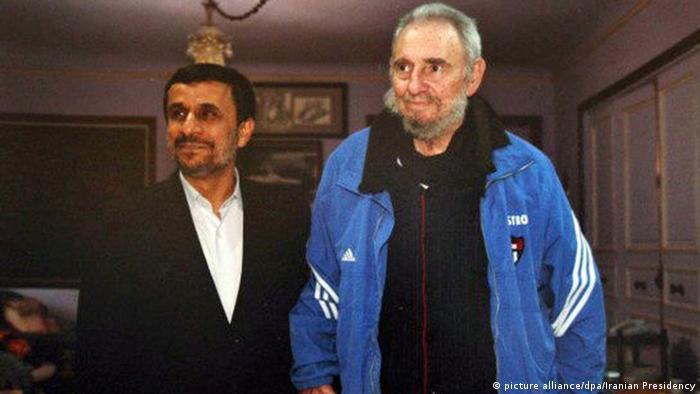 Kuba Fidel Castro und Mahmoud Ahmadinejad (picture alliance/dpa/Iranian Presidency)