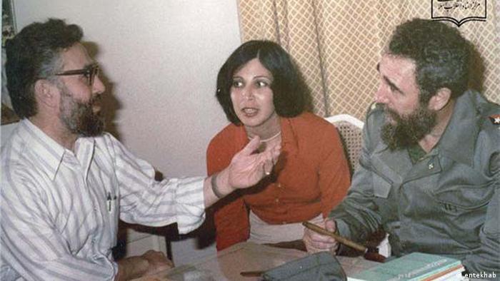 Iran Fidel Castro und Ebrahim Yazdi (entekhab)
