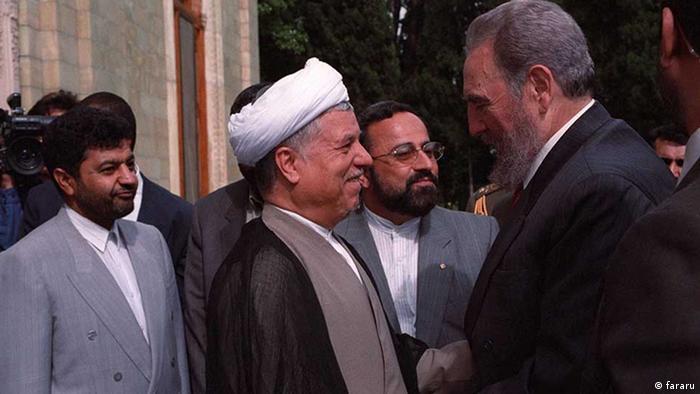 Iran Fidel Castro und Aliakbar Hashemi Rafsanjani