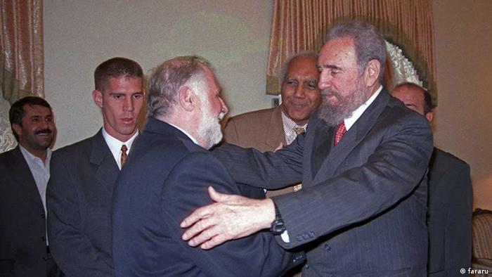 Iran Fidel Castro und Hassan Habibi (fararu)