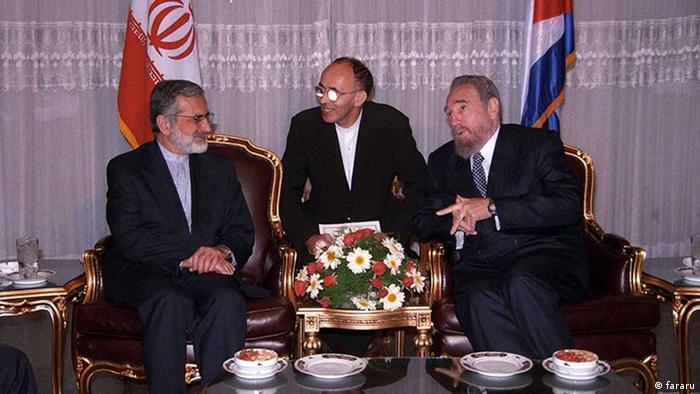 Iran Fidel Castro und Sadgegh Kharazi (fararu)