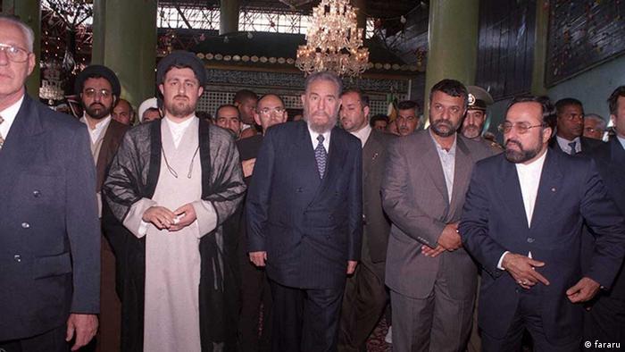 Iran Fidel Castro und Hassan Khomeini (fararu)