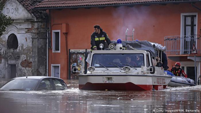 Italien Überschwemmungen nach heftigem Regen in Norditalien