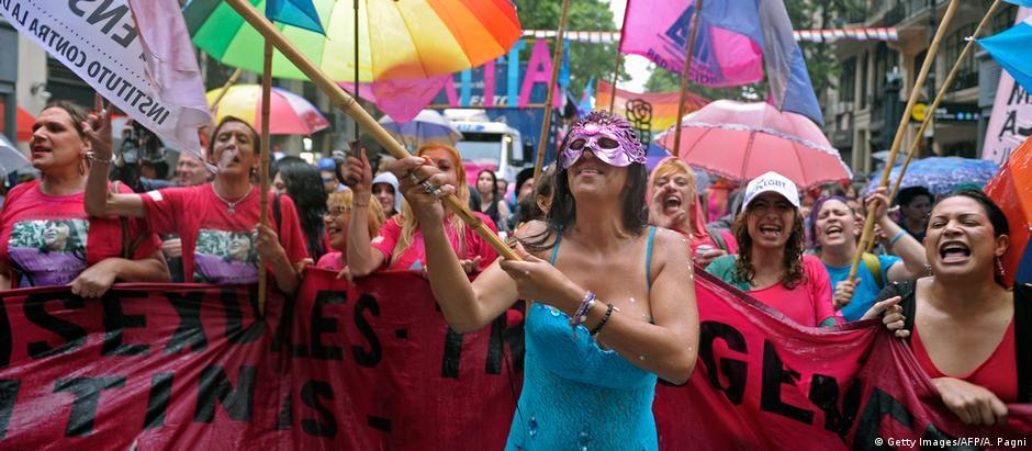 Argentinien XXV-Ausgabe des LGBTIQ Pride Parade in Buenos Aires