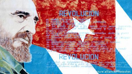 Afiche de Fidel Castro en Cienfuegos, Cuba.