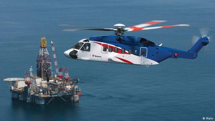 Iran Hubschrauber der iranischen Öl-Gesellschaft