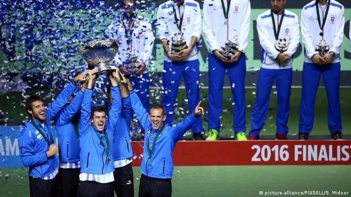 Kroatien Tennis Davis Cup Argentina feiert Sieg im Finale