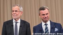 Österreich Wien TV-Duell Bundespräsidentenwahl