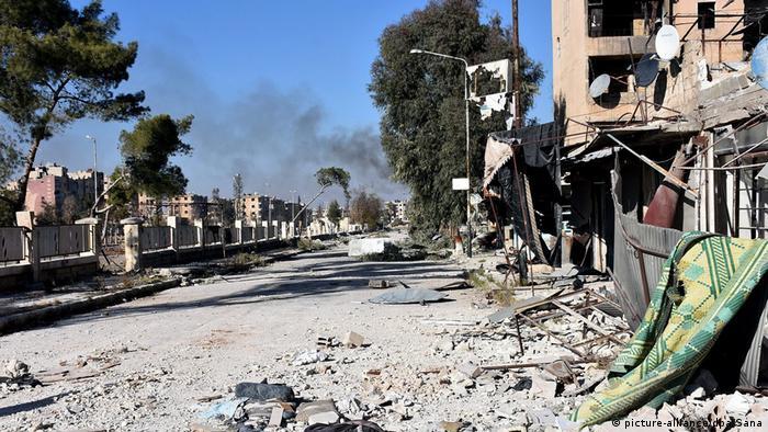 Syrien Aleppo östliches Masaken Hanano Gebiet (picture-alliance/dpa/Sana)