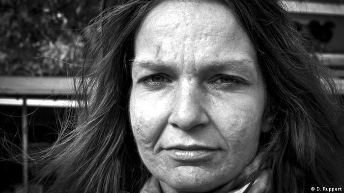 A homeless woman in Berlin, photographed by Debora Ruppert