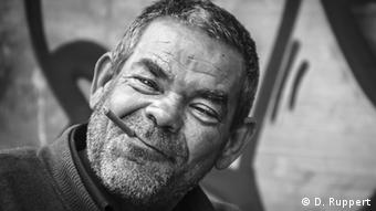 This homeless man, photographed by Debora Ruppert, goes by the name of Teufel