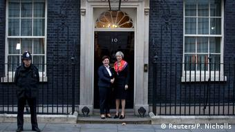 London Britain's Prime Minister Theresa May greets her Polish counterpart Beata Szydlo in front of 10 Downing Street in central London (Reuters/P. Nicholls)