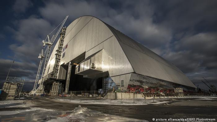 Ukraine Sarkophag für Tschernobyl (picture alliance/dpa/EBRD Photostream)