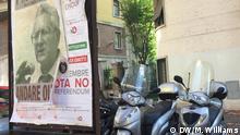 Italien Wahlplakat vor dem Referendum