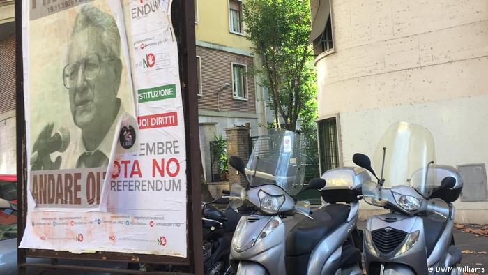 Cartaz da campanha de rua pelo não no referendo italiano