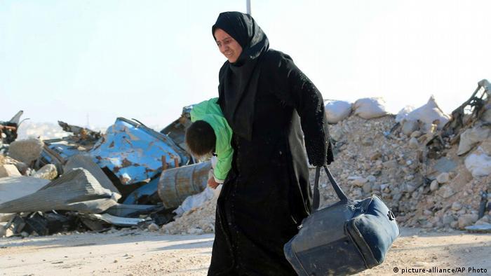 Syrien Flüchtlinge in Aleppo