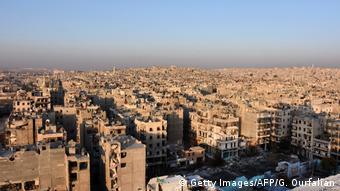 Разрушения в Алеппо, вид сверху