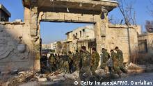 Syrien syrische Armee in Aleppo