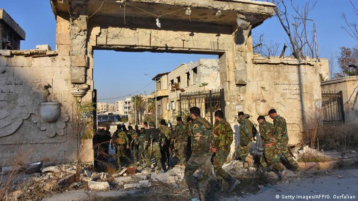Сирийская армия в Алеппо